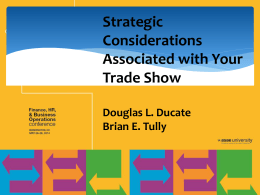 ASAE Final Rev. - Ducate Tradeshow Solutions