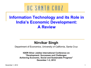 Information Technology and its Role in India`s Economic Development