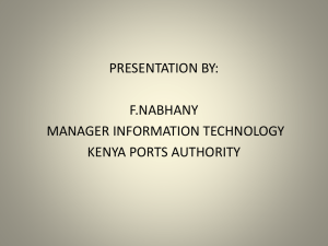 it media presentation - Kenya Ports Authority