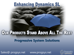 Enhancing Dynamics SL – Add-on Tools from ISVs