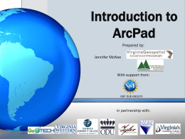 Introduction to ArcPad