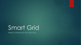 smart grid - EMERGING TECHNOLOGY