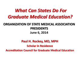 States - Organization of State Medical Association Presidents
