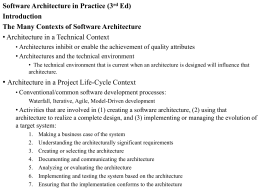 The Many Contexts of Software Architecture