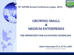 GROWING SMALL AND MEDIUM ENTERPRISES