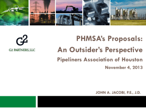 PHMSA`s Proposals: An Outsider`s Perspective