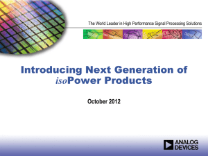 Introducing Next Generation of isoPower Products Rev