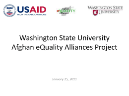 Afghan eQuality Alliances Impact Assessment