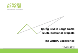 Using BIM in Large scale for multiplication projects