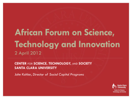 science, technology - Association for the Development of Education