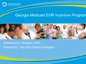 Medicaid Incentive Program