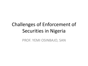 Challenges of Enforcement of Securities in Nigeria