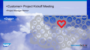 Project Kickoff Deck