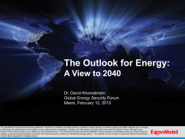 The Outlook for Energy: A View to 2040