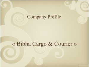 Présentation of Company Profile - Bibha Cargo and Courier Private