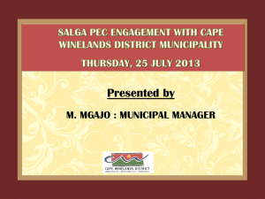 Presentation on IGR Structures by Cape Winelands District