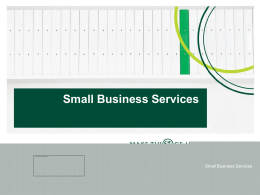 Small Business Services