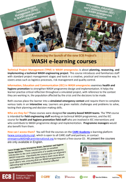 NEW! ECB WASH e-learning courses now available
