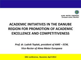 ECM, Vice-Rector of Alma Mater Europaea