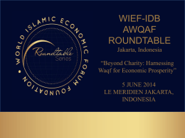CORPORATE waqf? - World Islamic Economic Forum Foundation