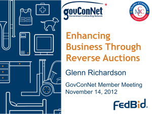 Enhancing Business Through Reverse Auctions