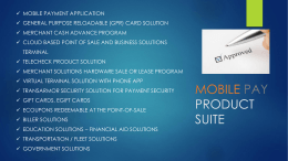 product suite - MOBILE PAY, INC.