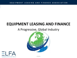 Industry Overview - Equipment Leasing & Finance Association