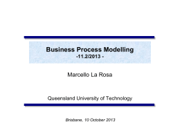 Process Engineering - Fundamentals of BPM