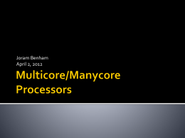 Multicore/Manycore Processors - St. Francis Xavier University