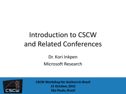 Reviews of CSCW Conference