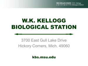 PowerPoint Presentation - WK Kellogg Biological Station