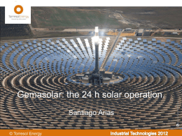 Gemasolar: the solar plant producing 24 h/day