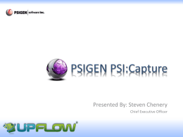 PSIGEN PSI:Capture - UpFlow APAC Distributor – Business