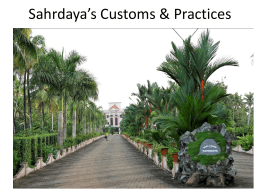 Customs and Practices - sahrdaya college of engineering and