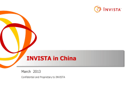INVISTA in China