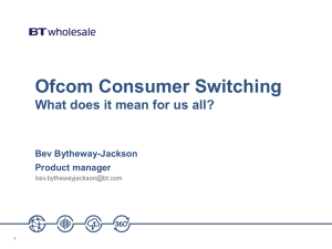 Ofcom Consumer Switching WebCall 27 February
