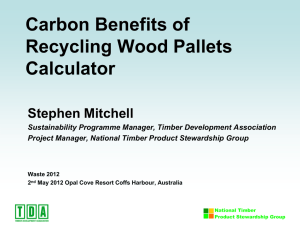 Carbon Benefits of Recycling Wood Pallets Calculator