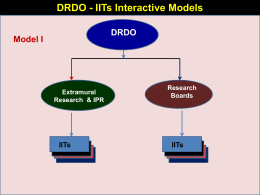 Presentation by DRDO on IITs- Defence linkages