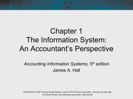 HALL, ACCOUNTING INFORMATION SYSTEMS