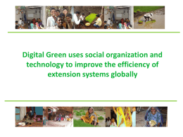 Digital Green Training for Small Scale Farmers
