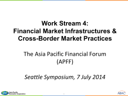 Financial Market Infrastructures and Cross