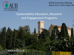 AUB-sustainability-presentation