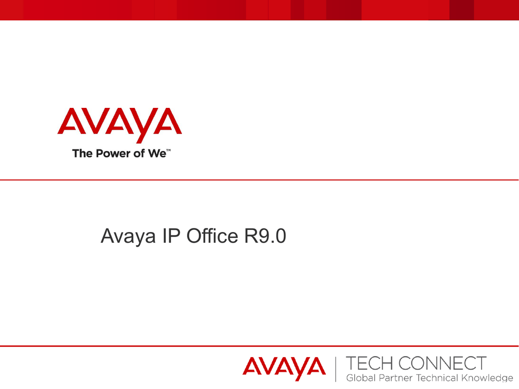 Avaya IP Office Server Edition 9 0