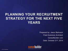 Planning your recruitment strategy for the next five years