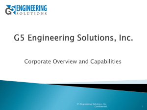 G5 Corporate Overview and Capabilities