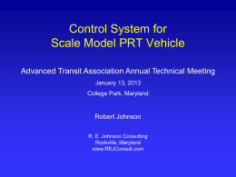 presentation - Automated Road Vehicles