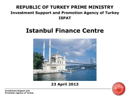 Istanbul Financial Center Initiative