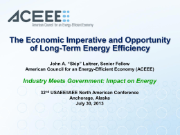 View Presentation - United States Association for Energy Economics