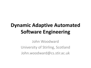 Dynamic Adaptive Automated Software Engineering