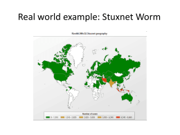 stuxnet network worm computer science essay A computer virus can cause a lot of damage find out about worms, computer virus history, origins, and evolution, and how to protect your computer.